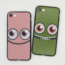 Soft Cover For Iphone 6 6s Funny Big Eyes Back Coque For Iphone 7 7Plus Cases Funda Capa For iPhone 6 6s Plus Fashon Cases