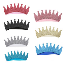1 Pc Newest Baby Kids Children Hair Ornaments Crown Hair Band Environmental Headband Newborn Photography Props 7 Colors(China)