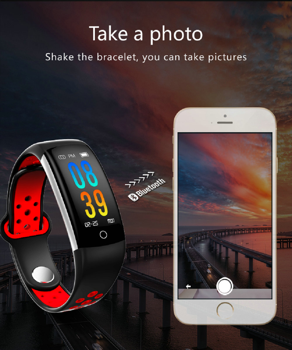 Waterproof Fitness Tracker Bracelet Smart Wrist Watch Band