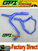 High performance silicone radiator  Y hose kit FOR Kawasaki KX450F KXF450 2009 2010 2011 2012 09 10 11 12 BLUE