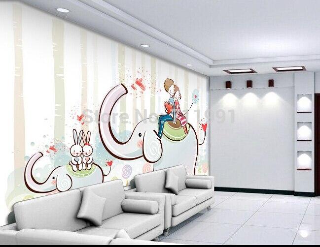 Custom baby wallpaper cute cartoon childrens room decoration backdrop for the childrens room living room 3D wallpaper<br>