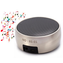 BS-01 Classical Mini Wireless Bluetooth Stereo Speaker AUX with LED Shinning Hands Free Call Support iPod MP3 player MP4