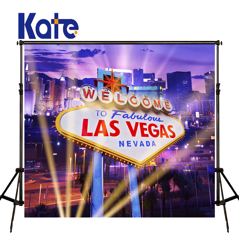 KATE 5x7ft Photography Background Casino Party Backdrop Scenery Backdrops Light City Backdrop Travel Wedding Photo for Studio<br>