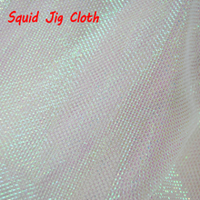Pearl White Flash Gold Green Orange Red Black Silver Squid Jig Cloth Fishing Octopus Squid Hook DIY Material 1 Yard(China)