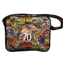 Marvel Comics Print Messenger Bags The Avengers Super Hero Superman Captain America Flash-man Iron-man Spider Batman Leather Bag(China)