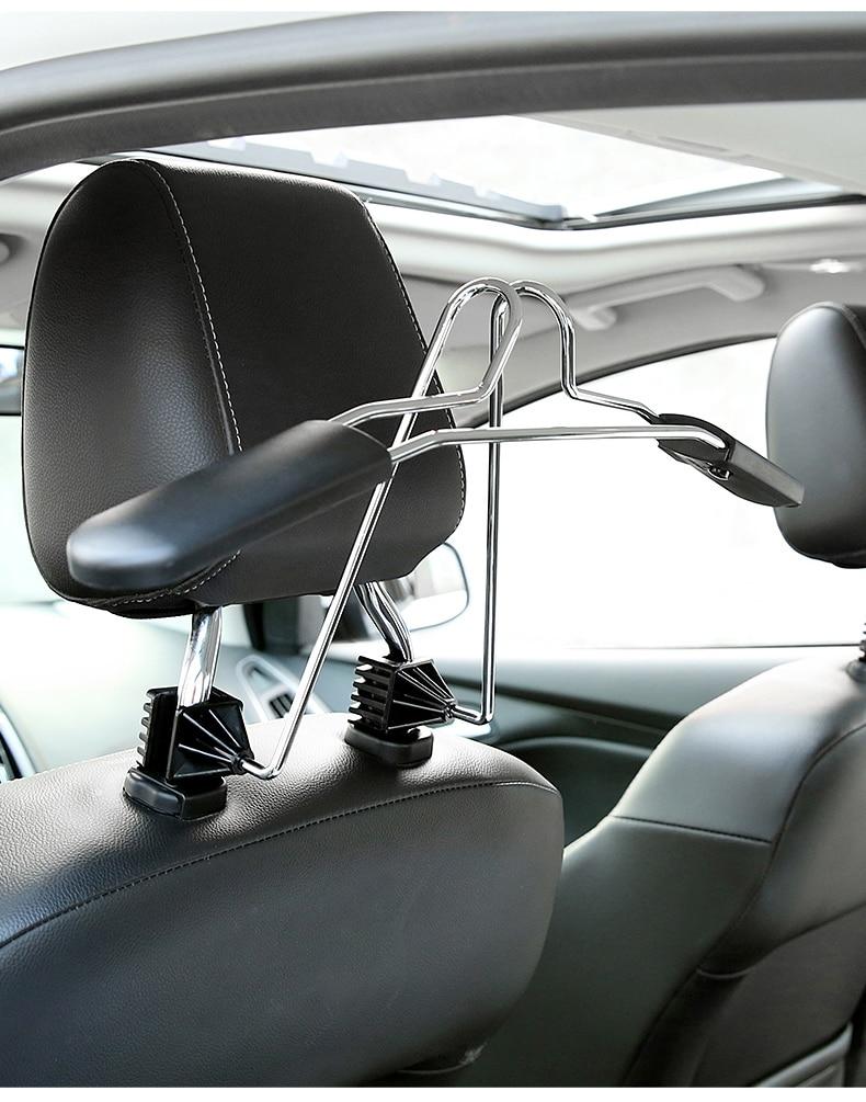 Stainless Steel Car Seat Headrest Clothes Hangers Coats Jacket Suit Holder RaVX