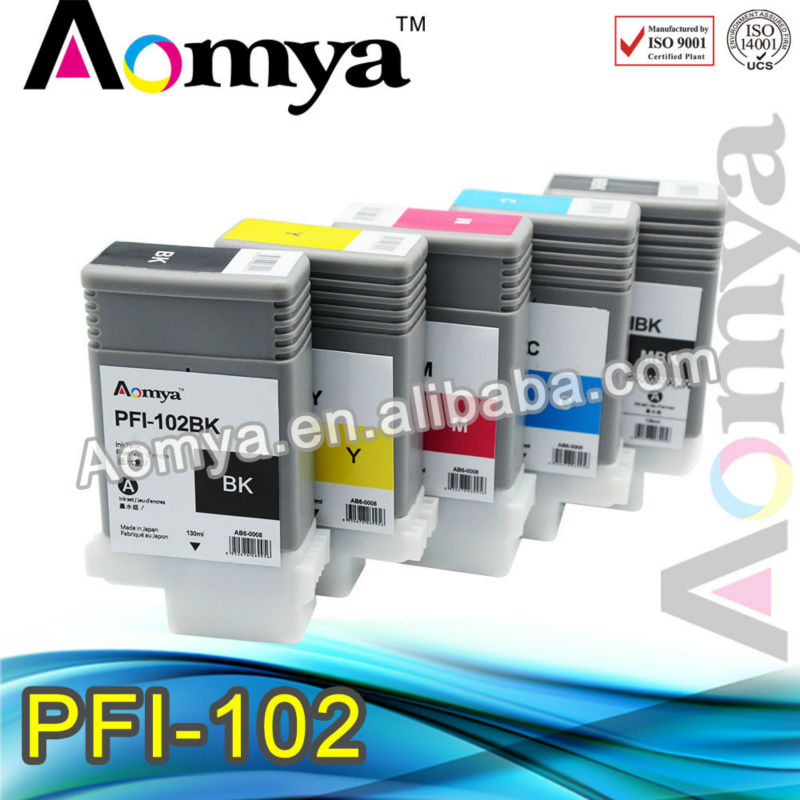 6pcs/lot  Hot sale! 130ml/pcs for Canon PFI-102 /104 ink cartridge For Canon IPF650/655/750/760/765<br><br>Aliexpress