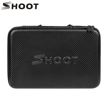SHOOT Large Protable PU Waterproof Carrying Case for GoPro Hero 6 5 4 3 SJCAM Xiaomi Yi 4k 2 Eken h9 Camera Box Go Pro Accessory(China)