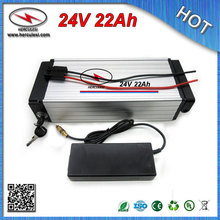 China manufacturer of 200W-700W 24V Electric Bicycle Bike Battery 22Ah with 18650 Cell 30A BMS aluminum case + Charger