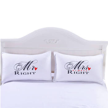 MR and MRS Pillowcases Funny Pillow Shams for Him or Her Christmas Romantic Anniversary Wedding Valentine's Gift