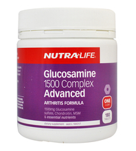 Nutra Life Glucosamine 1500 Complex Advanced 180 Caps High-strength Formula, Chondroitin, MSM & Joint Support Nutrients