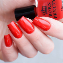 BORN PRETTY 1 Bottle 10ml Red Green Nail Polish Long-lasting Sweet Color Lacquer Manicure Nail Art Varnish Polish 2 Colors(China)