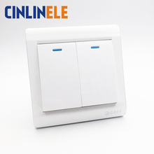 1Pcs Luxury Wall Switch, 2 Gang 2 Way, Ivory White, Brief Art Weave, Light Switch, AC 110~250V  10A 86mm*86mm
