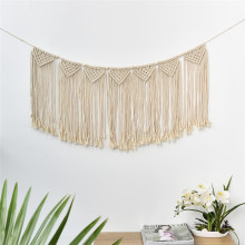 Handcrafted Macrame Tapestry Handwoven Cotton Thread Bohemian Curtain Wall Hanging Retro Stylish Wedding Backdrop Home Decor(China)