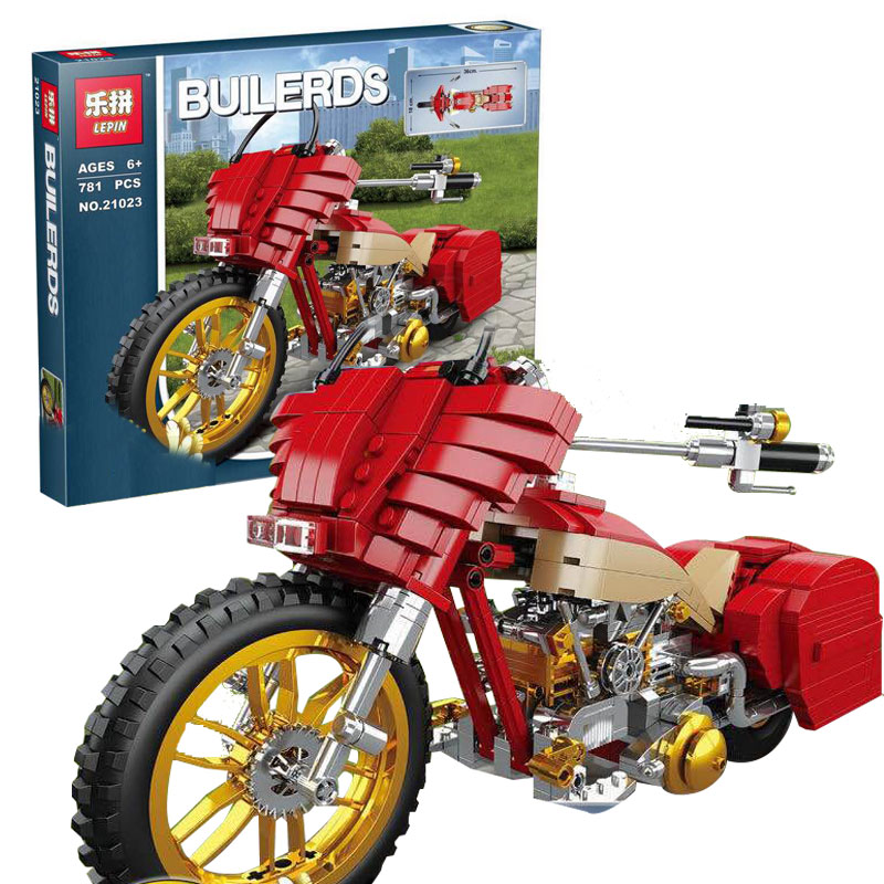 New Lepin 21023 Genuine Creative Technic Series The Plating Harley Motorcycle Set Educational Building Blocks Bricks Boy Toys<br>