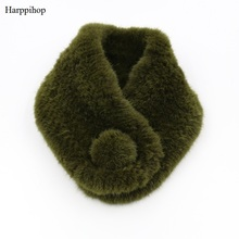 Harppihop Hot sale Genuine Knitted Mink Fur Scarf Real Mink Fur Ring For Women Fashion 2017 New Winter Fur Scarves Shawl