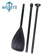 Durable 3 Piece Surfing Sup Paddle With Paddle Bag Adjustable Alloy Shaft & Nylon Blade Black