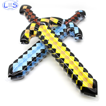 NEW high quality balloon swords perfect Minecraft swords diamond balloons sword action party toy Christmas gifts kids Minecraft(China)