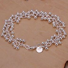 Free Shipping Wholesale silver bracelet, 925 fashion silver plated jewelry Purple Bracelet /FJBZDQFM SZYXAHUI