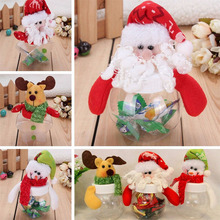 Christmas Candy Box Snowman Cookie Candy Box Christmas New Year Party Decoration Multi Shape Xmas Decoration(China)