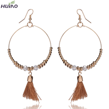 2015 Earings New Arrival Rushed Women Classic Brinco Earing Earrings For Tassel Design Beautiful Round Shape Large Dangle(China)
