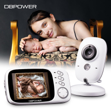 DBPOWER VB603 Video Baby Monitor 2.4G Wireless with 3.2 Inches LCD 2 Way Audio Talk Night Vision Surveillance Security Camera