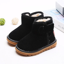 2017 Winter Boys Girls Snow Boots Children Kids Snow Boots With Plush Baby Kids Warm Fashion Boots Children Cotton Shoes Boots(China)