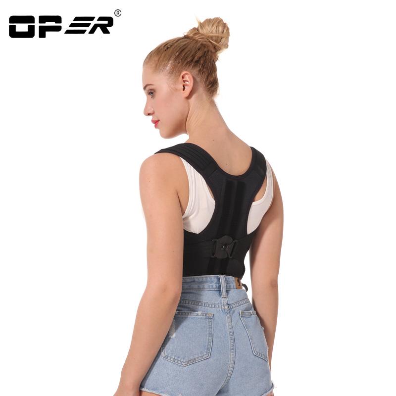OPER adjustable Shoulder back belt posture corrector back support brace Posture belt Back Brace rectify health care CO-96  (5)