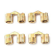 MTGATHER Top Quality 4pcs 12mm Brass Barrel Hinge Invisible Hinge Concealed Hinge For Caravan Worktops(China)