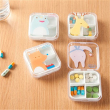 Child Mini Cute Plastic Pill Box Medicine Case For Healthy Care Empty Drugs Box