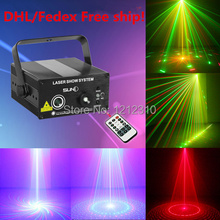 DHL Free shipping SUNY 2 Lens Club Bar RB Laser BLUE LED Stage Lighting DJ Home Party show Professional Projector Light Disco