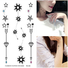 Fashion Flash Tattoo Sex Product Temporary Body Art Decal Necklace Ring Flower Rose Design Tattoos