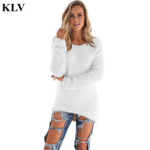 Fashion Sweater Women Winter Pullover Solid Knitted Sweater Top for Women Autumn Female Oversized Sweater Oc29