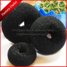 YWHUANSEN Free shipping 5pcs/lot Foaming Ball Shape Hair Band Good Donut meatball head bud Sponge hair band Fashion Bun Clip