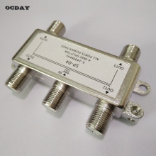 OCDAY 4 Way Satellite/Antenna/Cable TV Splitter Distributor 5-2400MHz F Type Wholesale in Stock!!!