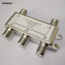 OCDAY 4 Way Satellite/Antenna/Cable TV Splitter Distributor 5-2400MHz F Type Wholesale in Stock!!!(China)