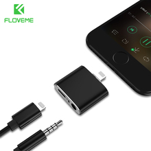 FLOVEME For Lightning to 3.5mm Audio Converter For iPhone 6 7 Plus Splitter Earphone Jack Aux Cable USB Stereo Headphone Adapter