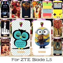 22 DIY Silicone Mobile Phone Case Cover For ZTE BLADE L5 Case ZTE BLADE L5 Plus 5.0'' Back Covers Shell Housing Hood For ZTE L5