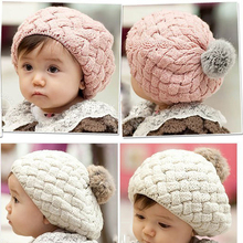 2018 baby hat kids baby photo props beanie,faux rabbit fur gorros bebes crochet beanie toddler cap for 4 months-3 years old girl(China)