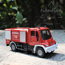 Siku 1:87 child toy alloy car model Benz engineering fire truck metal material family small ornaments child favorite gift(China)