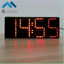 Red LED Display Clock DIY Module Kit 1-inch ECL-132 DIY Clock Kit Remote Control Clock Suit LED Time Screen Display Kit