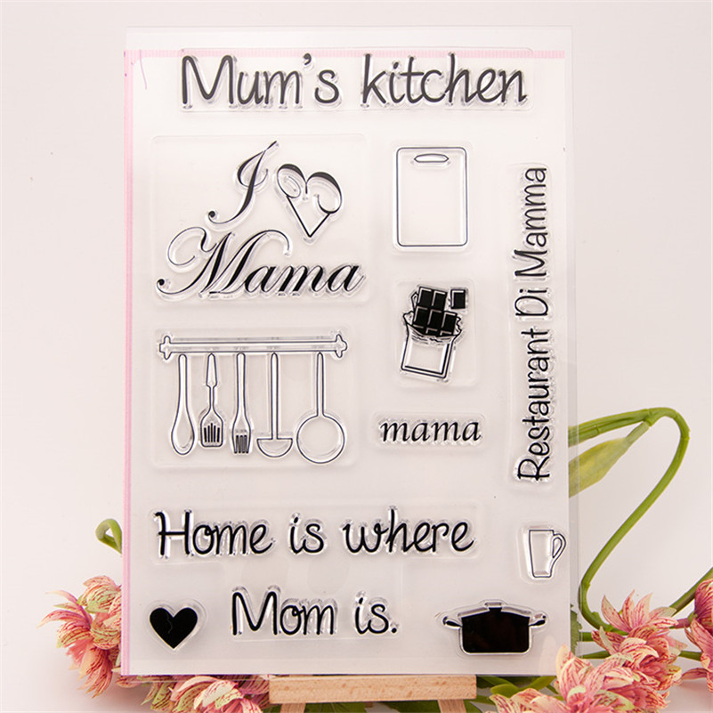Mums kitchen for clear stamp scrapbooking stam craft wedding paper card christmas gift photo album RZ-248<br><br>Aliexpress