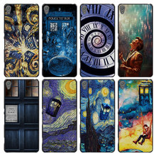 Doctor who van gogh Style Case Cover for Sony Ericsson Xperia X XZ XA XA1 M4 Aqua E4 E5 C4 C5 Z1 Z2 Z3 Z4 Z5