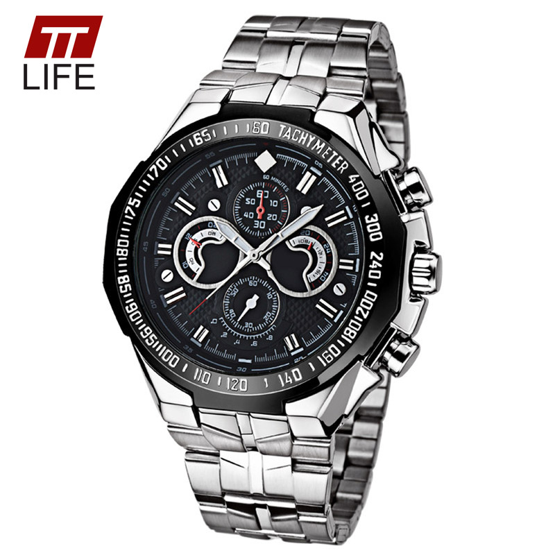 TTLIFE Brand New Fashion Waterproof 3 Dials Decoration Mens Watch Business Wrist Watches Casual Analog Quartz Watches Men<br><br>Aliexpress