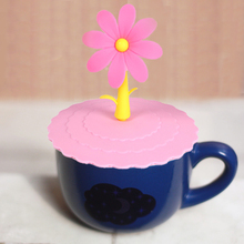 Cute Anti-dust Silicone Glass Cup Cover Coffee Mug Suction Seal Lid Cap Silicone Airtight Cup Cover