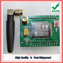 Free Shipping 2pcs GPRS A6 module \ SMS \ development board \ GSM \ GPRS \ wireless data transmission super SIM (D3B4)(China)