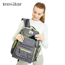 Buy Insular Baby Diaper Nappy Stroller Bag Large Capacity Mommy Maternity Diaper Bag Backpack Mummy Nursing Mother Bag Organizer Bag for $30.39 in AliExpress store