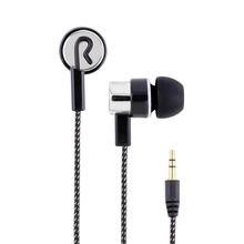 Factory wholesales Fiber Cloth Wired Earphone ln-Ear Noise Cancelling Headset Universal 3.5MM for Iphone4 5 6 Computer MP3 MP4
