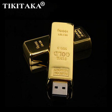 USB Flash Drive past desgin bullion gold bar USB 2.0 Flash Drive U Disk to 4 GB 8 GB 16 GB 32 GB flash drive Pendrive Usb thumb(China)