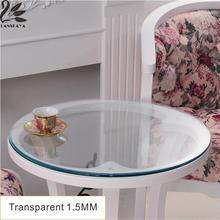 2017 Outdoor Top Fashion New Modern Wedding Oilproof Round Tablecloth Pvc Transparent Table Cover Soft Glass Thickness 1.5 Mm